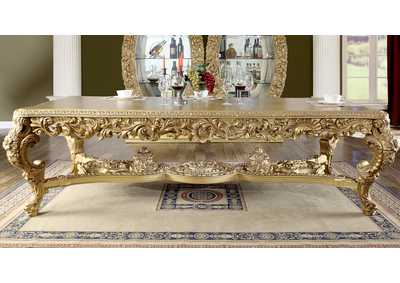 Image for Metallic Bright Gold Dining Table