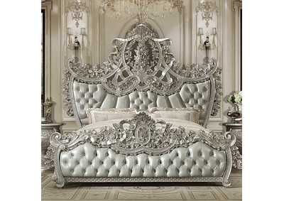 Image for Metallic Silver Eastern King Bed