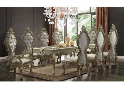 Image for Champagne Gold 9 Piece Dining Set W/ 8 Chairs