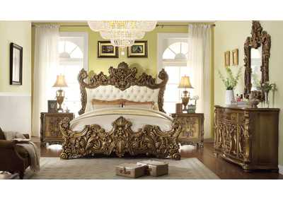 Image for Metallic Antique Gold California King 5 Piece Bedroom Set
