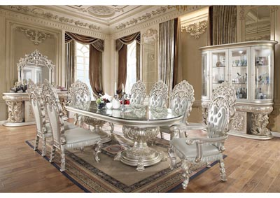 Image for Metallic Silver China Cabinet