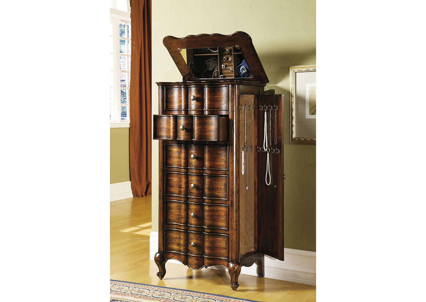 French Jewelry Armoire,Hooker Furniture