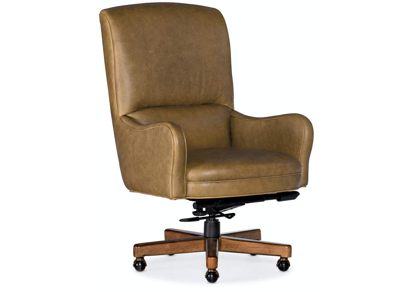 Brown Dayton Executive Swivel Tilt Chair W Metal Base Woods Furniture Tx