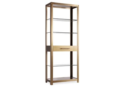 Image for Curata Tobacco Brown Bunching Bookcase