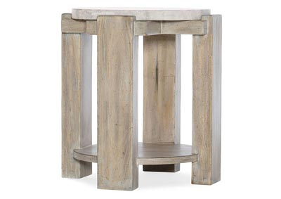 Image for American Life-Amani Heathered Gray Round End Table