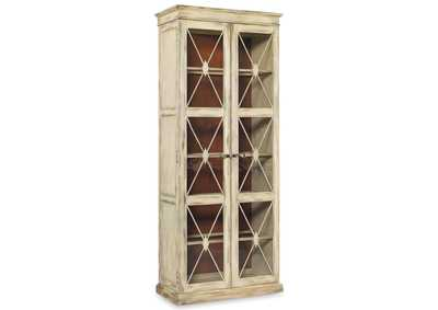 Image for Sanctuary Two-Door Thin Display Cabinet - Dune