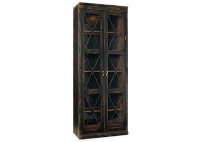 Image for Sanctuary Two-Door Thin Display Cabinet - Ebony
