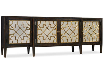 Image for Sanctuary Four Door Mirrored Console- Ebony