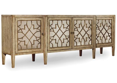Image for Sanctuary Four-Door Mirrored Console - Surf-Visage