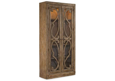 Image for Solana Tobacco Brown Bunching Curio Cabinet