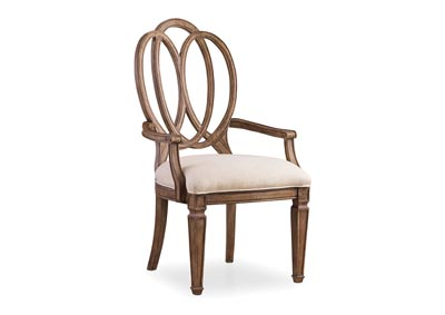 Image for Solana Cultured Pearl Wood Back Arm Chair - 2 per carton/price ea (Set of 2)