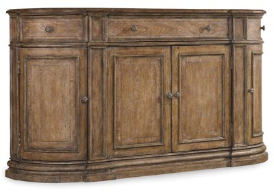 Image for Solana Leather Three-Drawer Four-Door Buffet