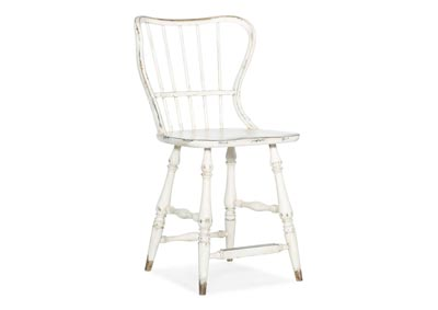 Image for Ciao Bella Cultured Pearl Spindle Back Counter Stool-White