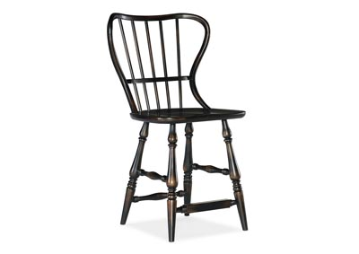 Image for Ciao Bella Gallery Spindle Back Counter Stool-Black