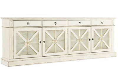 Image for Sanctuary 2 Satin Linen Grand Premier Entertainment Console Blanc