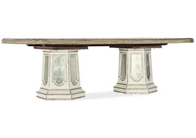 Image for Sanctuary 2 Moon Mist Grand Fete Rectangular Dining Table w/2-20in leave