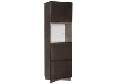 Image for Melange Taupe Virtrine Bar Cabinet