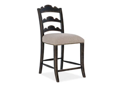 Image for La Grange Gallery Twin Sisters Ladderback Counter Stool