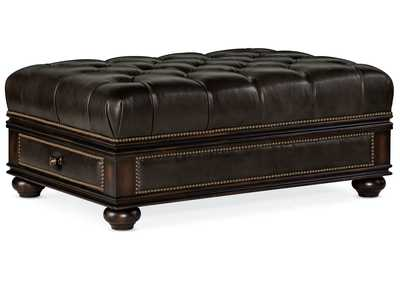 Image for Black Chesshire Drawer Ottoman