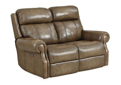 Image for MS Tobacco Brown Brooks PWR Loveseat w/PWR Headrest