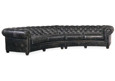 Image for SS Mine Shaft Weldon Leather Tufted Sectional Sofa