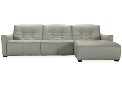 Image for MS Natural Gray Reaux Power Recline Sofa w/ RAF Chaise w/2 Power Recliners