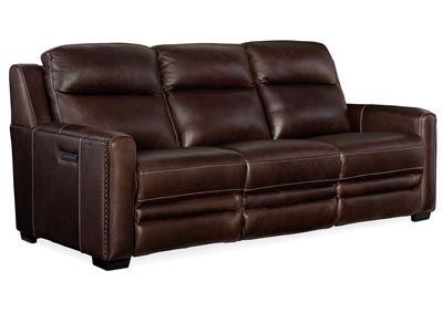 Image for MS Eclipse Lincoln Power Recline Sofa w/ Power Headrest &Lumbar Recline