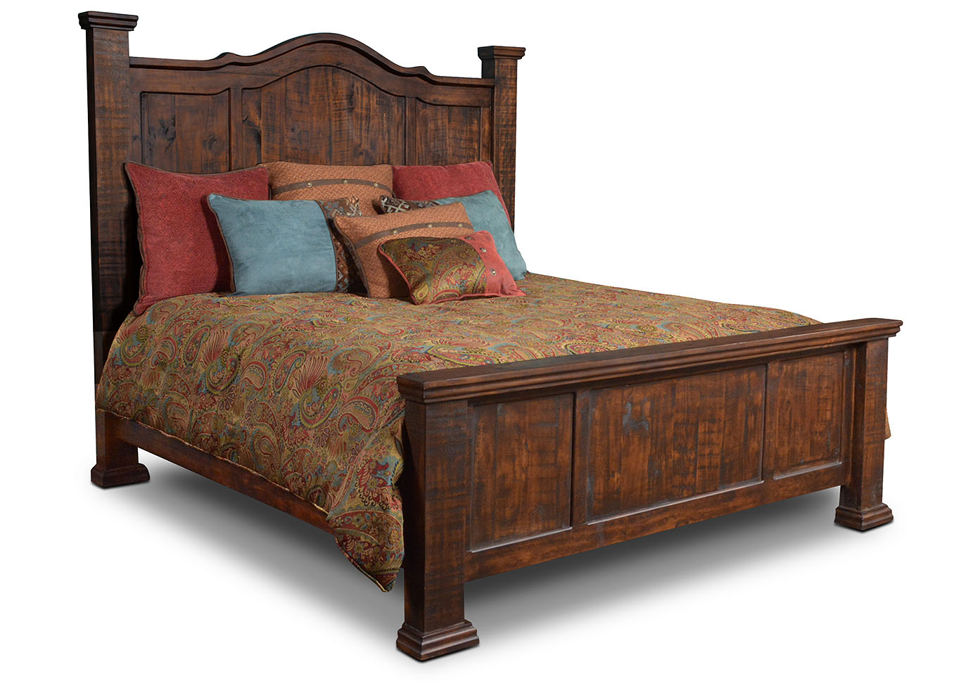 Grand Rustic California King Bed Mattress Furniture For Less