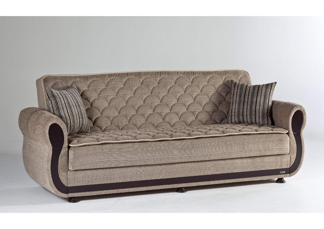 Argos Zilkade Light Brown 3 Seat Sleeper Sofa W/ Storage,Hudson Furniture & Bedding