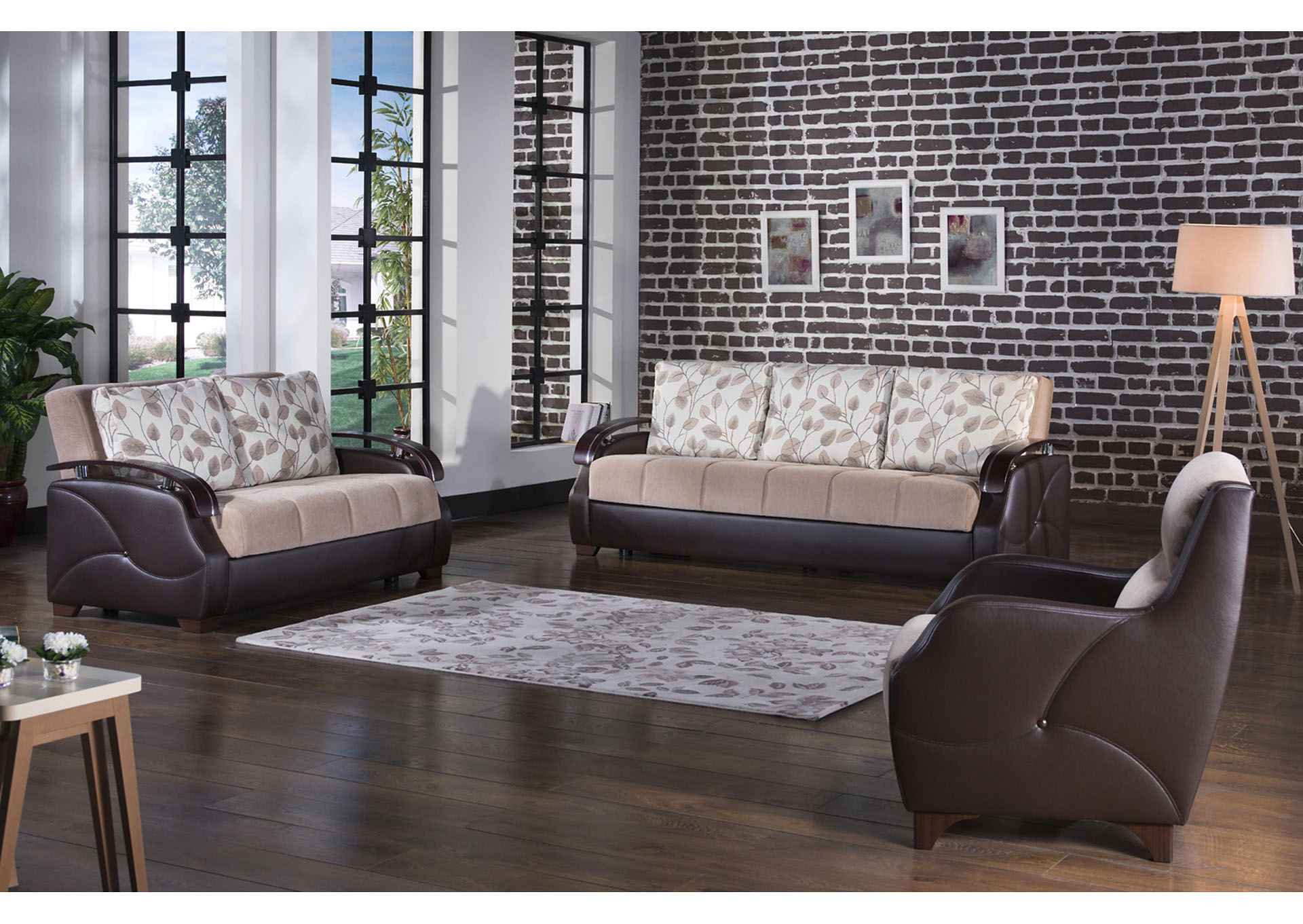 Costa Armoni Vizon 3 Piece Sofa Set,Hudson Furniture & Bedding
