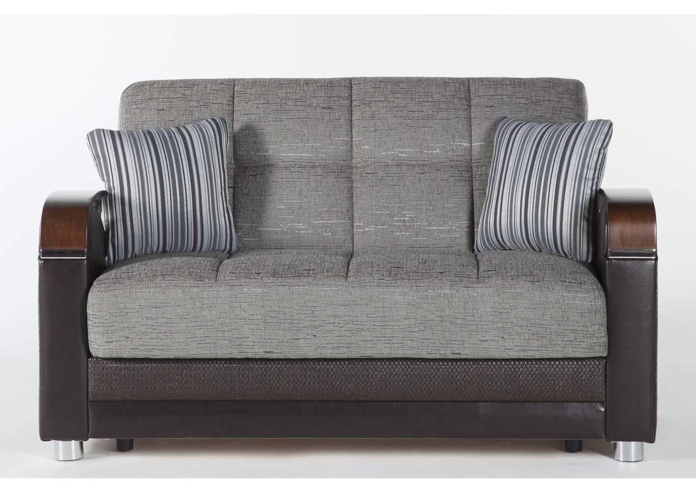 Picture of: Luna Fulya Gray Loveseat Sleeper Sofa Paivas Furniture
