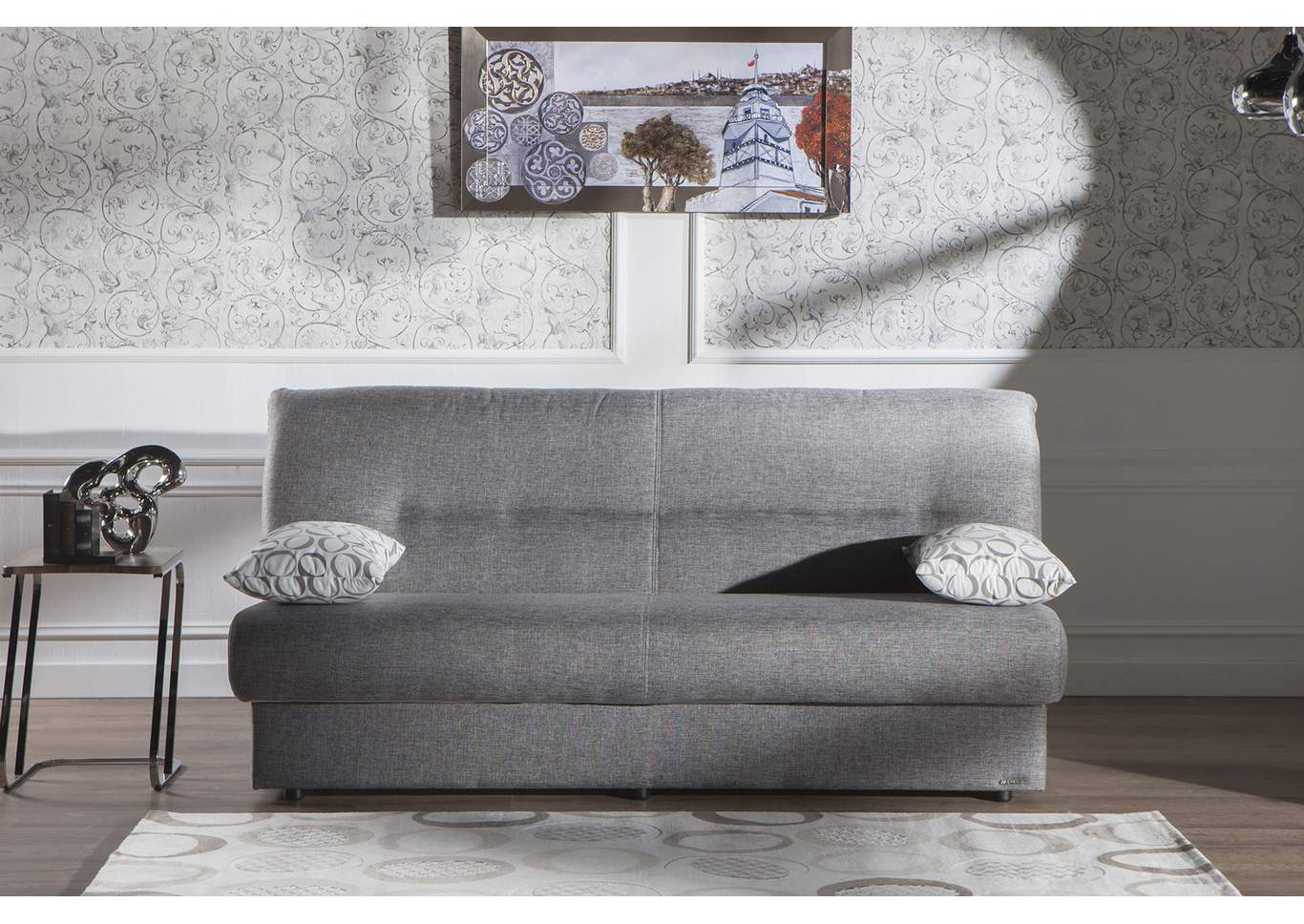 Regata Diego Gray 3 Seat Sleeper Sofa,Hudson Furniture & Bedding