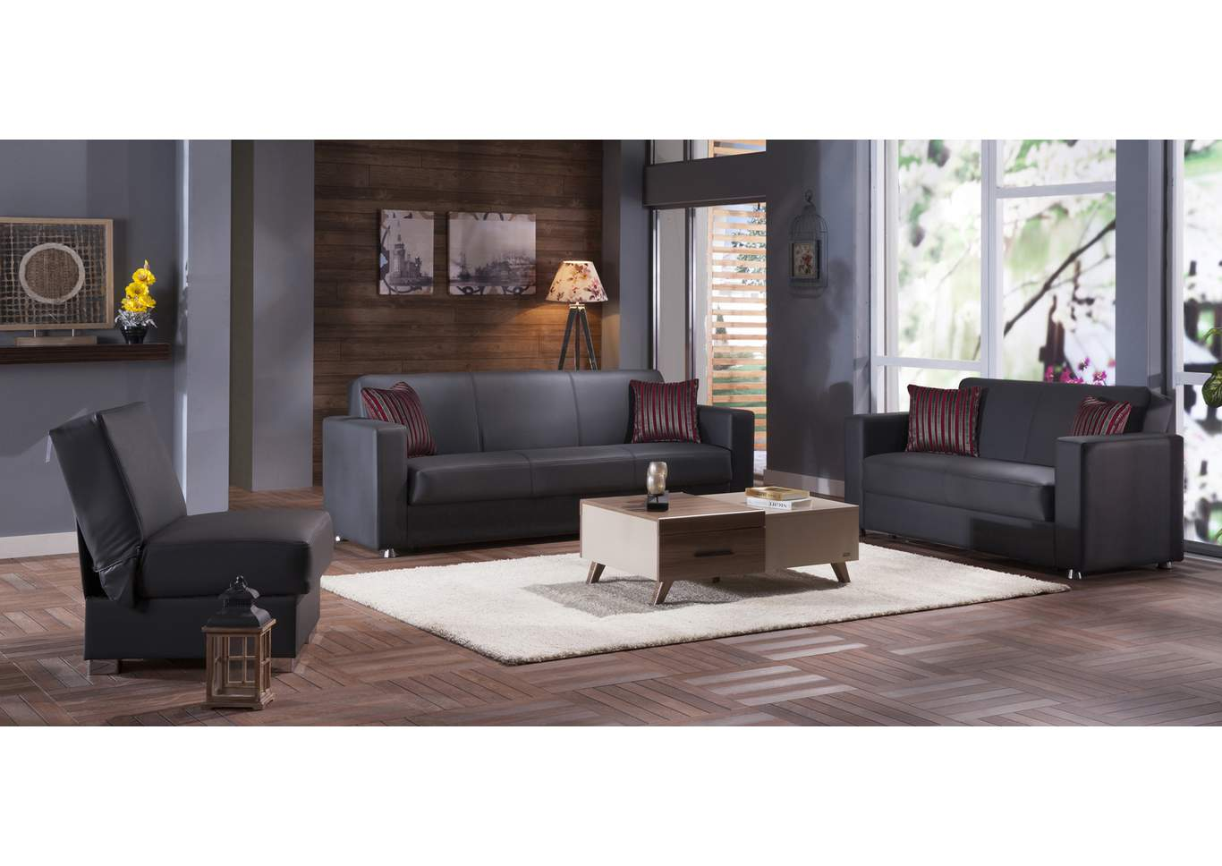 Tokyo Santa Glory Gray 3 Seat Sleeper Sofa,Hudson Furniture & Bedding