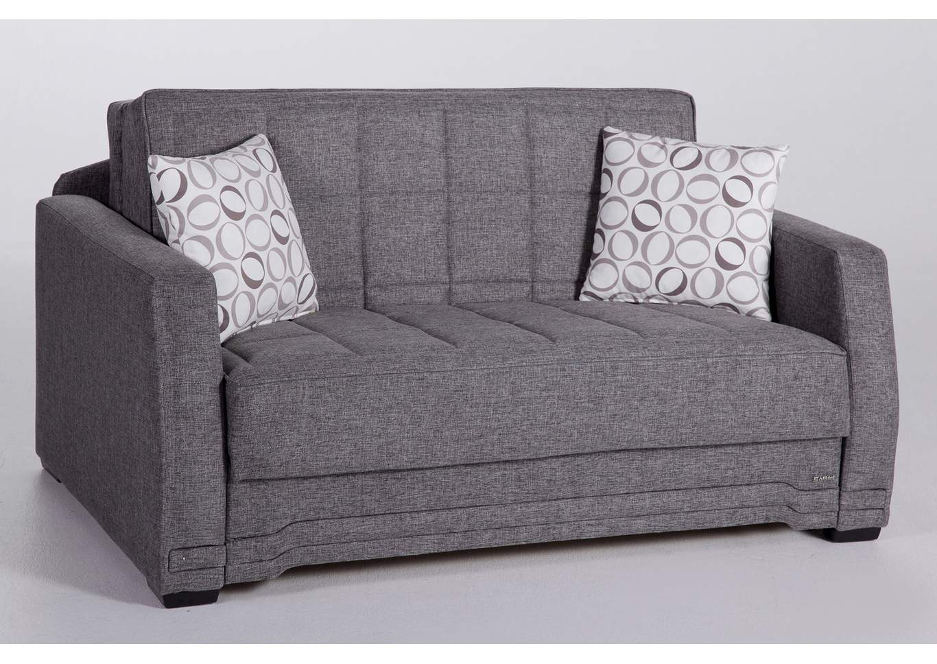 Valerie Diego Gray Love Seat W/ Storage,Hudson Furniture & Bedding