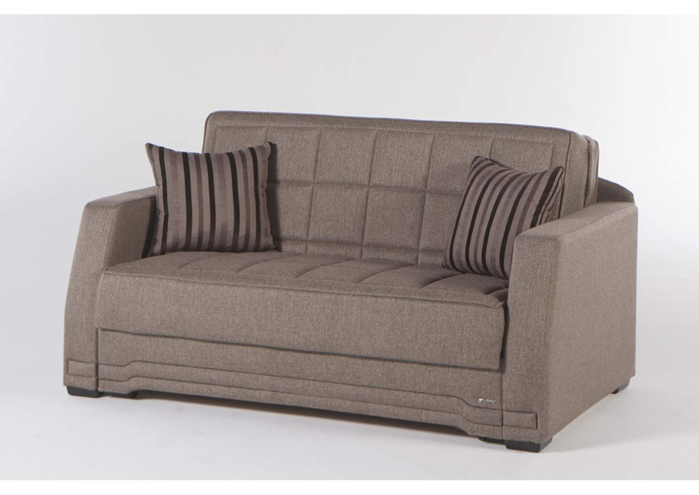 Valerie Redeyef Brown Love Seat W/ Storage,Hudson Furniture & Bedding