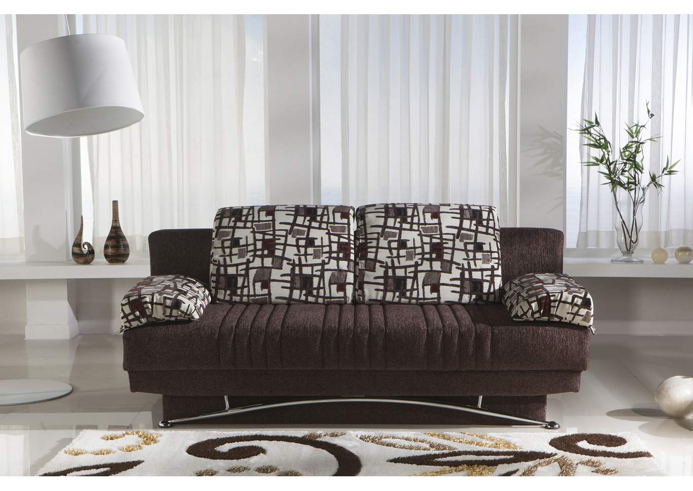 Fantasy Aristo Burgundy 3 Seat Sleeper Sofa,Hudson Furniture & Bedding