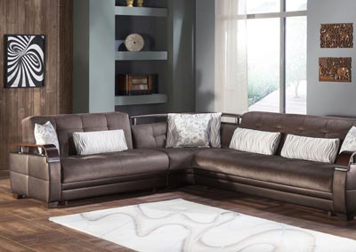 Natural Prestige Brown Sectional