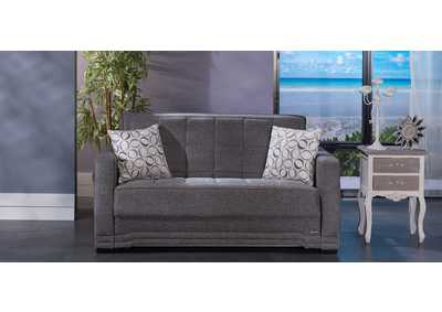 Valerie Diego Gray Love Seat W/ Storage