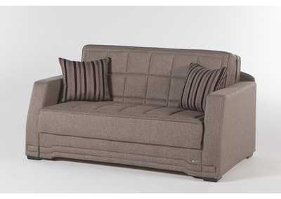 Valerie Redeyef Brown Love Seat W/ Storage