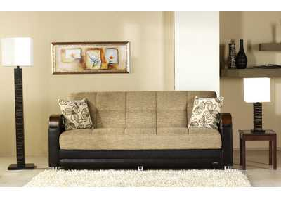 Luna Fulya Brown 3 Seat Sleeper Sofa