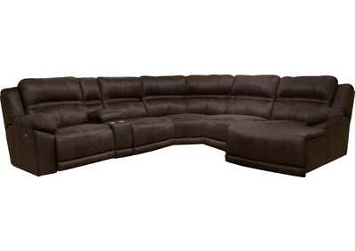 Image for Braxton Dark Chocolate RAF Chaise Sectional