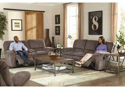Image for Reyes Graphite Lay Flat Reclining Sofa and Loveseat