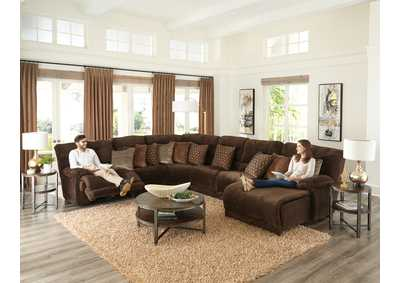 Image for Burbank Chocolate Chaise Lay Flat Reclining Sectional