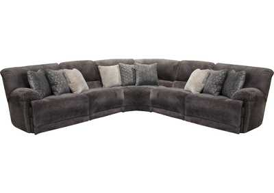 Image for Burbank Smoke Lay Flat Reclining Sectional