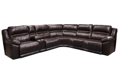 Image for Bergamo Chocolate Reclining Sectional