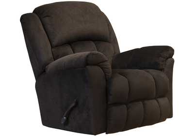 Image for Clairmont Chocolate Rocker Recliner w/Deluxe Heat & Massage