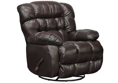 Image for Pendleton Chocolate Chaise Swivel Glider Recliner
