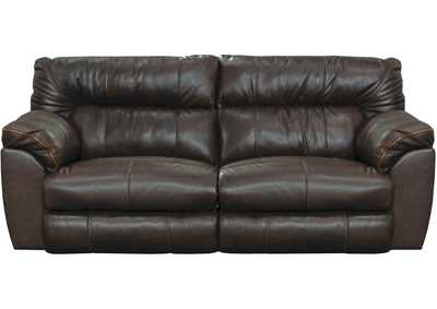 Image for Milan Chocolate Lay Flat Reclining Sofa