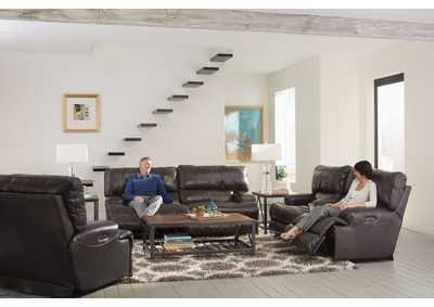 Image for Wembley Steel Lay Flat Reclining Sofa and Loveseat
