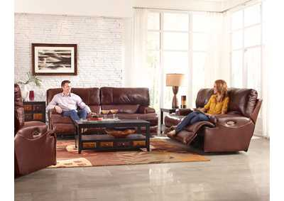Image for Wembley Walnut Lay Flat Reclining Sofa and Loveseat
